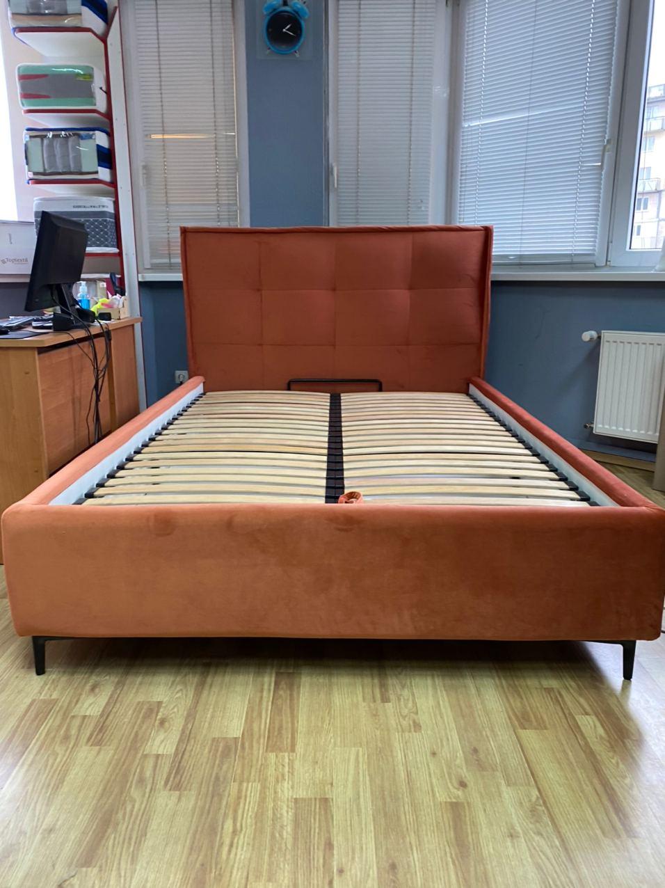 Кровать Квадро с ПМ 140*200 Magic Velvet 2242 (РАСПРОДАЖА)