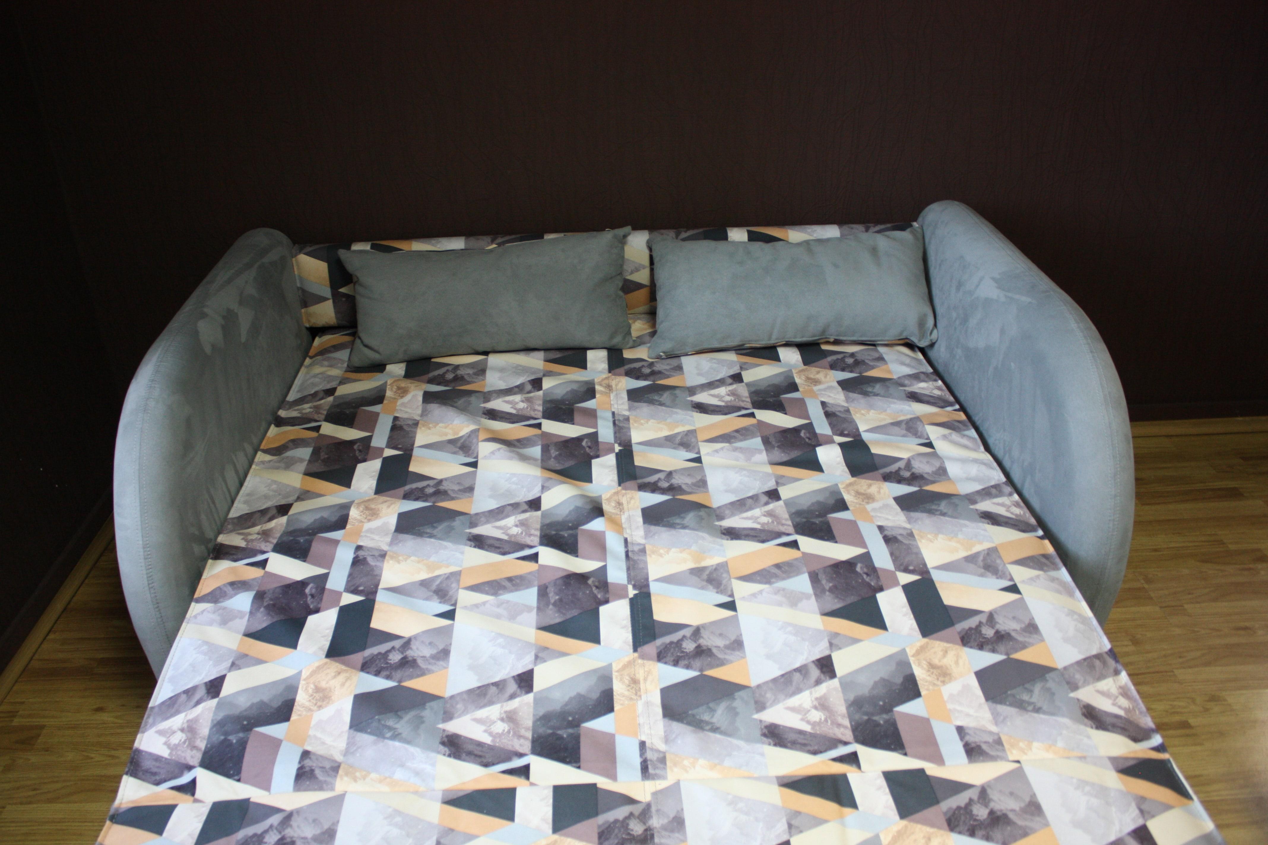 Диван-кровать Max (Макс), 140х200 см, Snow Brown/Sofia Grey (РАСПРОДАЖА)