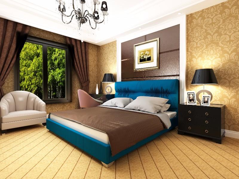 """Полуторная кровать """"Камелия"""" без подьемного механизма 140*200"""