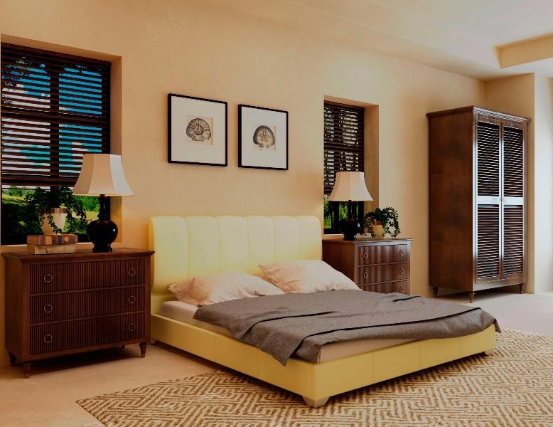 """Двуспальная кровать """"Олимп"""" без подьемного механизма 160*200"""