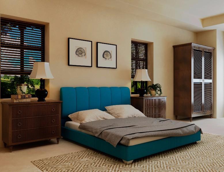 """Двуспальная кровать """"Олимп"""" без подьемного механизма 180*200"""