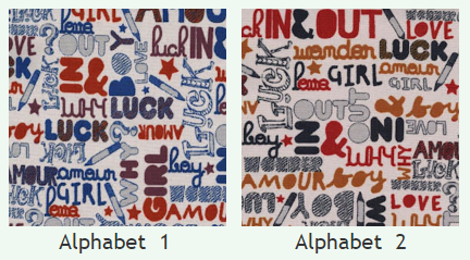 Скотчгард Канзас Альфабет (Kansas Alphabet), ширина 140 см