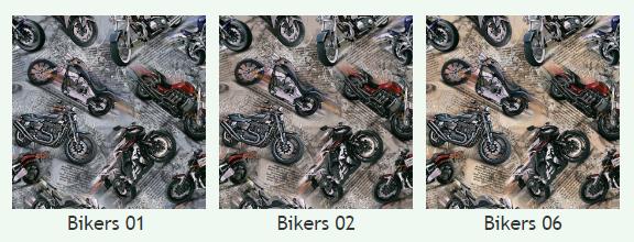 Скотчгард Канзас Байкерс (Kansas Bikers), ширина 140 см