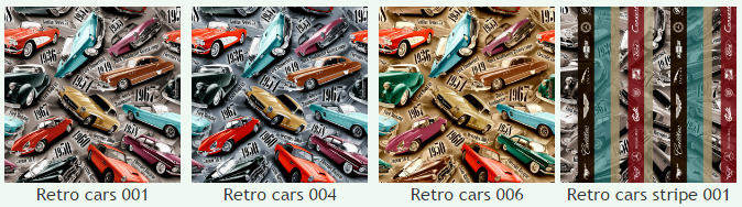 Рогожка Ретро карс (Retro cars), ширина 140 см